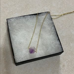 Genuine Amethyst Gemstone Necklace